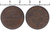 Изображение Монеты Пруссия 3 пфеннига 1972 Медь XF