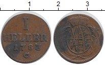 Изображение Монеты Германия Саксония 1 хеллер 1783 Медь XF