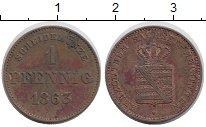 Изображение Монеты Германия Саксе-Мейнинген 1 пфенниг 1863 Медь XF