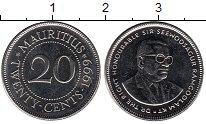 Изображение Мелочь Маврикий 20 центов 2003 Медно-никель XF