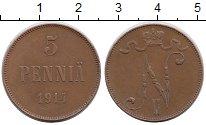 Изображение Монеты Финляндия 5 пенни 1914 Медь
