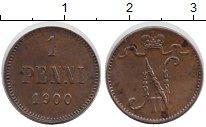 Изображение Монеты Финляндия 1 пенни 1900 Медь