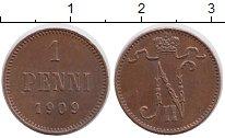 Изображение Монеты Финляндия 1 пенни 1909 Медь