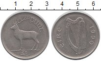 Изображение Монеты Ирландия 1 фунт 1990 Медно-никель XF Олень