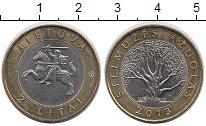 Изображение Монеты Литва 2 лит 2013 Биметалл UNC- Стелмужский дуб
