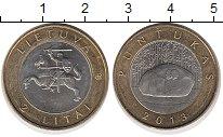 Изображение Монеты Литва 2 лит 2013 Биметалл UNC- Пунтукас