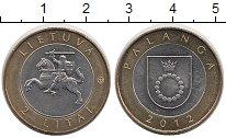 Изображение Монеты Литва 2 лит 2012 Биметалл UNC- Паланга