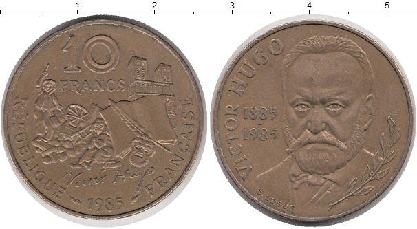Картинка Монеты Франция 10 франков Бронза 1985