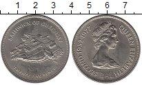 Изображение Монеты Остров Джерси 25 пенсов 1977 Медно-никель UNC- 25-летие правления Е