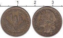 Изображение Монеты Камерун 1 франк 1925 Латунь XF-