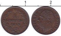 Изображение Монеты Италия 1 сентесимо 1895 Бронза XF Виктор Эммануил III