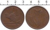 Изображение Монеты Ирландия 1 пенни 1928 Бронза XF Курица с цыплятами