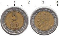 Изображение Дешевые монеты Кения 5 шиллингов 2010 Биметалл VF-