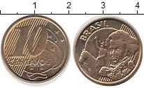 Изображение Дешевые монеты Бразилия 10 сентаво 2012 сталь покрытая латунью AUNC