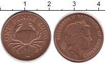 Изображение Дешевые монеты Великобритания Гернси 1 пенни 2006 сталь с медным покрытием XF