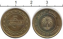 Изображение Дешевые монеты Бахрейн 5 филс 2011 Бронза XF