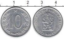 Изображение Дешевые монеты Чехия Чехословакия 10 хеллеров 1966 Алюминий XF
