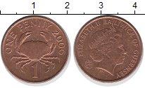 Изображение Дешевые монеты Гернси 1 пенни 2006 сталь с медным покрытием XF