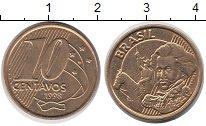 Изображение Дешевые монеты Бразилия 10 сентаво 1998 сталь покрытая латунью AUNC