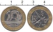 Изображение Дешевые монеты Франция 10 франков 1990 Биметалл XF Меркурий