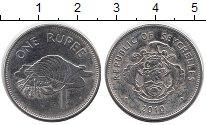 Изображение Дешевые монеты Сейшелы 1 рупия 2010 Сталь XF-