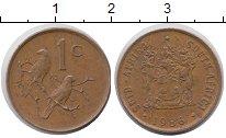 Изображение Дешевые монеты ЮАР 1 цент 1986 Бронза XF-