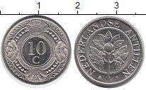 Изображение Дешевые монеты Антильские острова 10 центов 2014 Сталь AUNC