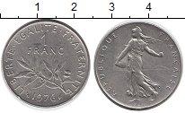 Изображение Дешевые монеты Франция 1 франк 1976 Медно-никель XF Сеятельница