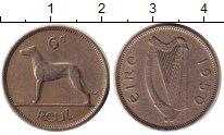 Изображение Дешевые монеты Ирландия 6 пенсов 1950 Медно-никель VF