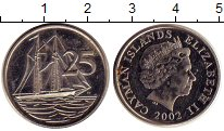 Изображение Дешевые монеты Каймановы острова 25 центов 2002 Не указан VF