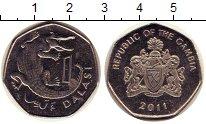 Изображение Дешевые монеты Гамбия 1 даласи 2011 Не указан XF