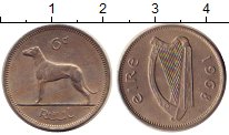 Изображение Дешевые монеты Ирландия 6 пенсов 1968 Медно-никель XF-