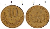 Изображение Дешевые монеты Албания 10 лек 1996 Бронза VF-