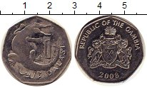 Изображение Дешевые монеты Гамбия 1 даласи 2008 Не указан VF