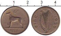 Изображение Дешевые монеты Ирландия 6 пенсов 1959 Медно-никель VF