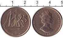 Изображение Дешевые монеты Каймановы острова 25 центов 1990 Медно-никель VF