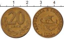 Изображение Дешевые монеты Албания 20 лек 2000 Бронза VF-