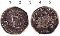 Изображение Дешевые монеты Гамбия 1 даласи 1998 Не указан XF