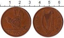 Изображение Дешевые монеты Ирландия 1 пенни 1964 Бронза XF-