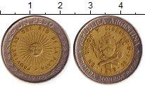 Изображение Дешевые монеты Аргентина 1 песо 1995 Биметалл VF