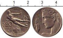 Изображение Дешевые монеты Италия 20 чентезимо 1921 Никель XF-