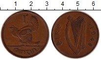 Изображение Дешевые монеты Ирландия 1 пенни 1948 Бронза XF