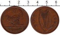 Изображение Дешевые монеты Ирландия 1 пенни 1942 Бронза XF-