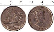 Изображение Дешевые монеты Каймановы острова 25 центов 1987 Медно-никель VF-