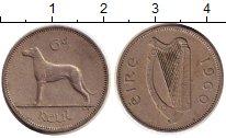 Изображение Дешевые монеты Ирландия 6 пенсов 1960 Медно-никель XF