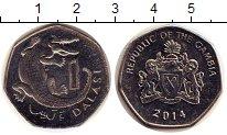 Изображение Дешевые монеты Гамбия 1 даласи 2014 Не указан XF