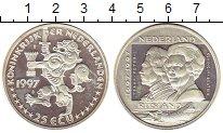 Изображение Монеты Нидерланды 25 экю 1997 Серебро Proof- 300 - летие  Российс