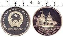 Изображение Монеты Вьетнам 100 донг 1991 Серебро Proof- Корабль