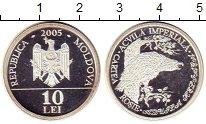 Изображение Монеты Молдавия 10 лей 2005 Серебро UNC-