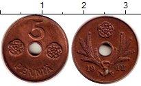 Изображение Монеты Финляндия 5 пенни 1942 Бронза XF